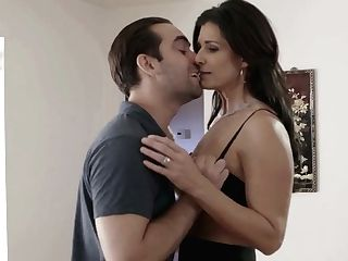 Dude Squeezes Boobies Of India Summer Railing His Stiff Dick On Top