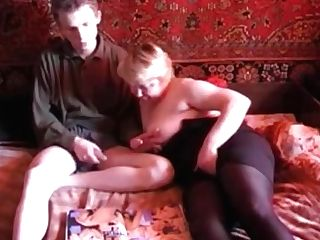 Russian Mom Son-in-law Russian Old Woman And Junior Boy Two