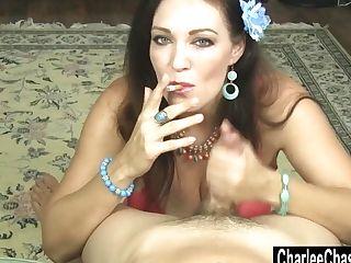 Smoking Hot Cougar Charlee Chase Drains A Hard Fuck-stick!