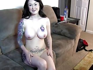Gorgeous Tattooed Cougar Castings For Pornography For Big Black Cock