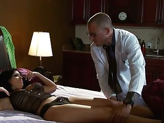 Chesty Cougar Rebeca Linares Is Examined By Perverted Doc