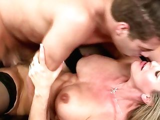 Buxom Cougar Brandi Love Gets Fucked In Missionary Position