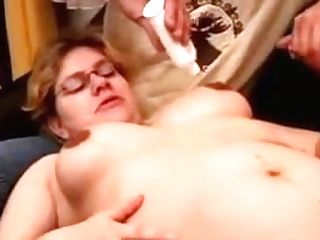 Preggie Mom Spunk On Glasses
