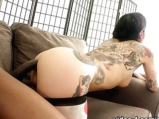 Joanna Angel & Slender Poke In Joanna: Assfuck, Cunt Squirt & Internal Cumshot - Evilangel