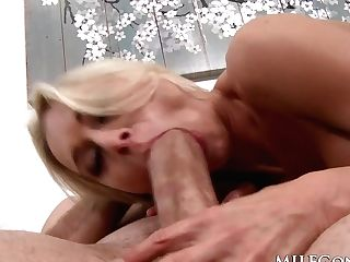 Milfgonzo Katie Morgan Rails A Big Fat Dick In Stockings