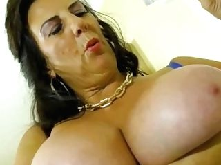 Europemature Big-chested Granny Lulu Solo Onanism