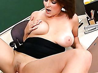 Mega Chesty Dark-haired Hoe Charlie James Gets Pounded By Jarod Diamond