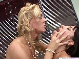 Girl-on-girl Cougar Seducing Hot Teenage