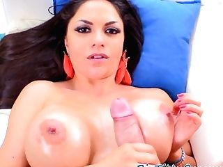 Bigtits Latina Titfucked On Her Back