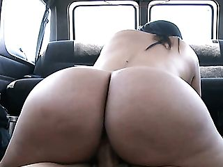 Asstastic Dark Haired Bitch With Suntanned Skin Galilea Is Fucked In The Car