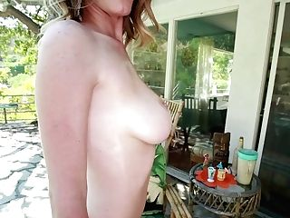 Horny Sexpot With Big Bra-stuffers Gives Her Bf A Nice Fellatio