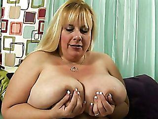 Immensely Fat Blonde Hoe Cassie Blanca Gargles Dude's Prick