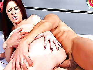 Dude In Mask Drills Crimson Haired Mummy Tiffany Mynx In Different Positions