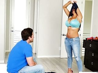 Mega Big-titted French Cougar Ava Addams Caught Her Sonny-in-low Snuffling Her Delicates And Jerking Off His Fuckpole